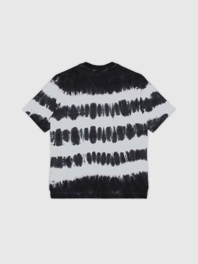 Diesel - TJUSTA38 OVER, Black/White - T-shirts and Tops - Image 2