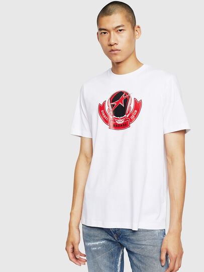 Diesel - T-JUST-B1, White - T-Shirts - Image 1