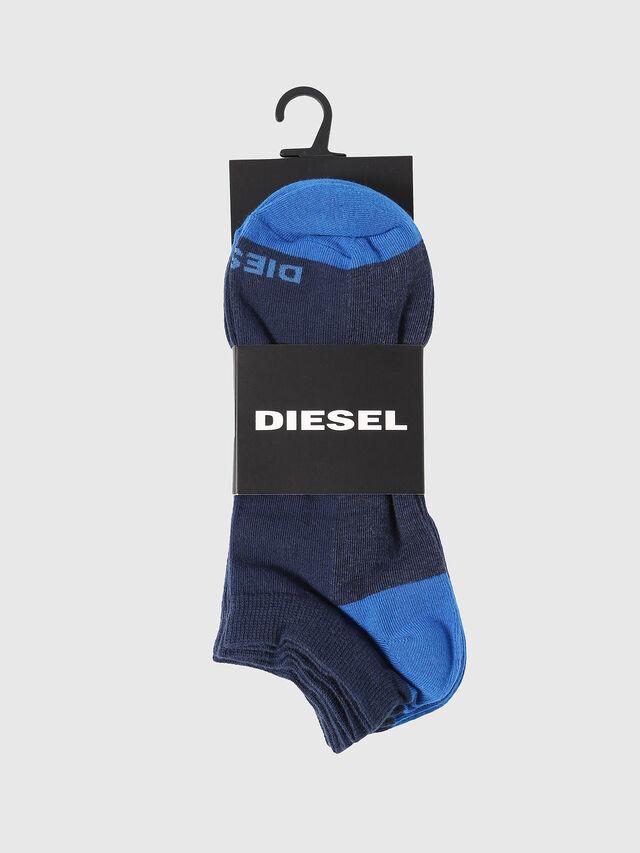 Diesel SKM-GOST-THREEPACK, Indigo - Low-cut socks - Image 2