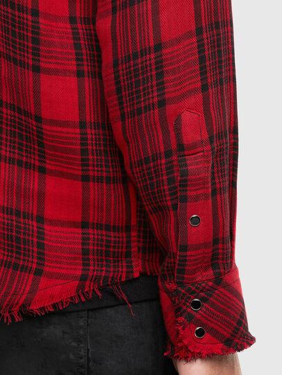 Diesel - S-EAST-LONG-TUB, Black/Red - Shirts - Image 4