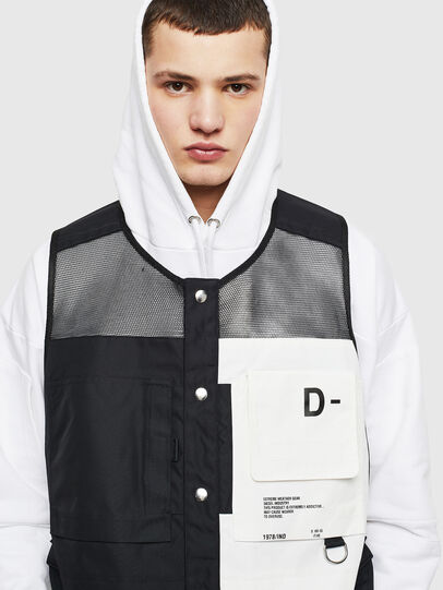 Diesel - J-FISHMESH, Black/White - Jackets - Image 3