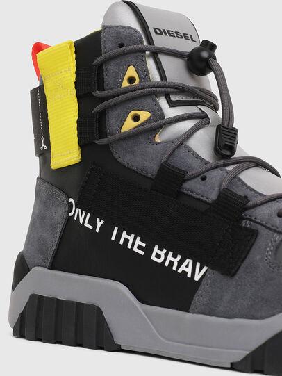 Diesel - S-RUA MID SP, Gray/Black - Sneakers - Image 4