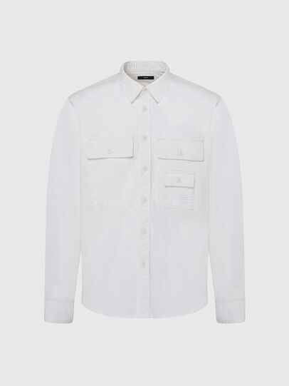 Diesel - S-ALLEN-KA, White - Shirts - Image 1