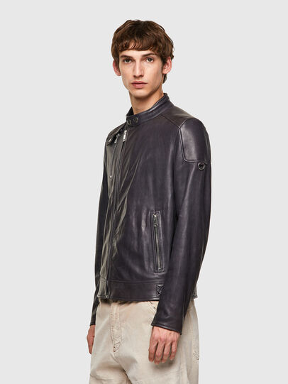 Diesel - L-CODY-NEW, Black - Leather jackets - Image 4