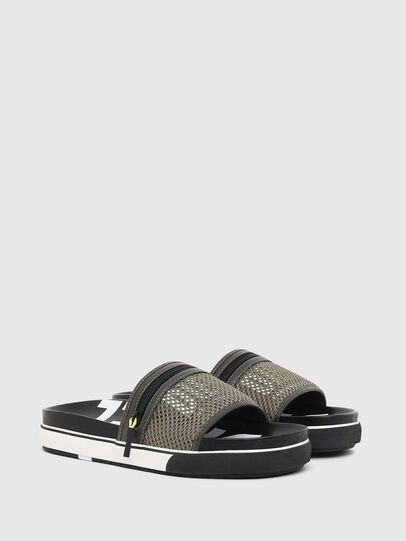 Diesel - SA-GRANDZ, Green/Black - Slippers - Image 2