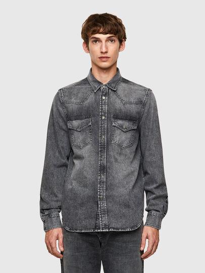 Diesel - D-EAST-P1-SP2, Dark grey - Denim Shirts - Image 1