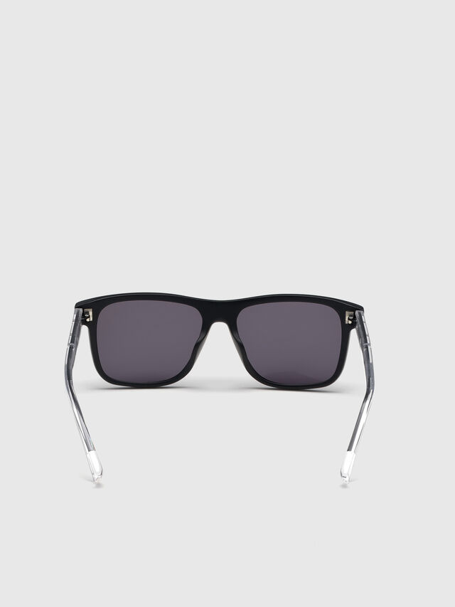 Diesel - DL0279, Black/White - Sunglasses - Image 4