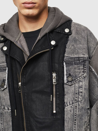 Diesel - D-LOSTY, Black - Denim Jackets - Image 3