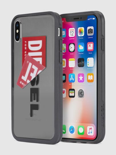 Diesel - STICKER IPHONE X CASE, Black - Cases - Image 1