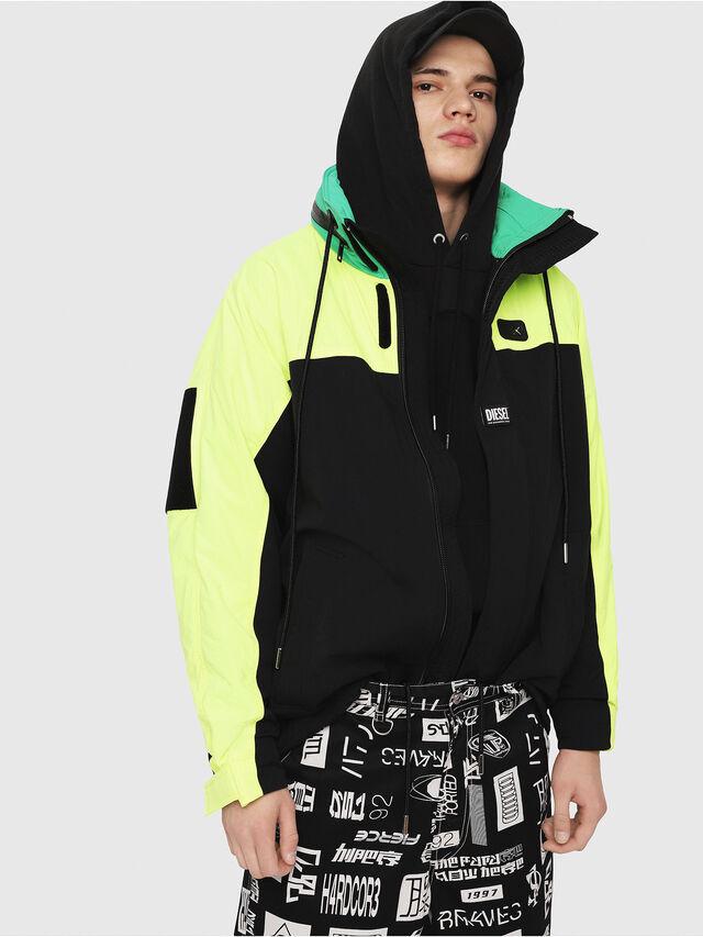 Diesel - J-FUTOSHI, Black/Yellow - Jackets - Image 3
