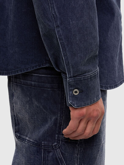 Diesel - D-VERSO, Dark Blue - Denim Shirts - Image 5