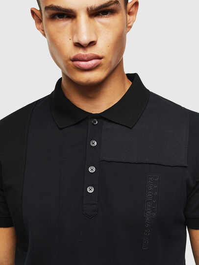 Diesel - T-POLPATCH, Black - Polos - Image 4