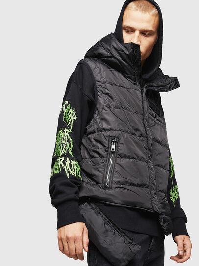 Diesel - W-SUN-REV-SLESS, Black - Winter Jackets - Image 4