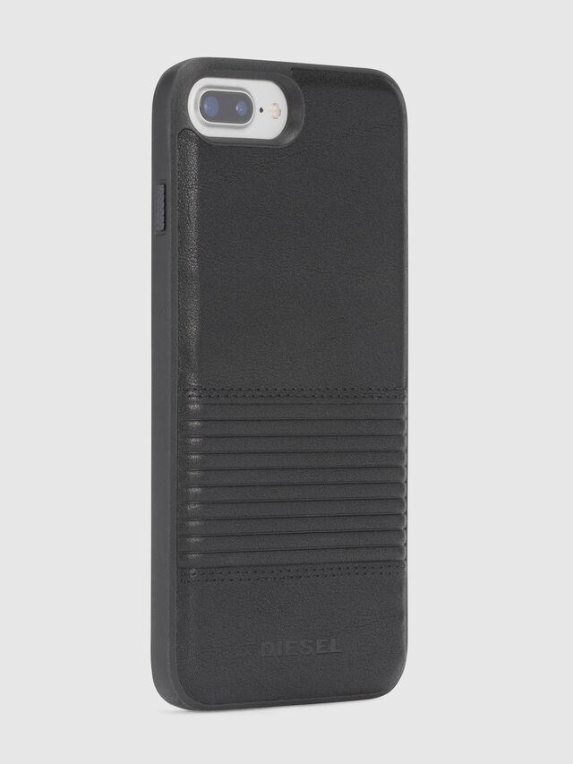 Diesel BLACK LINED LEATHER IPHONE 8 PLUS/7 PLUS/6s PLUS/6 PLUS CASE, Black - Cases - Image 5