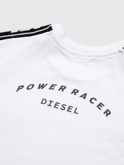 Diesel - TJUSTRACE, White/Black - T-shirts and Tops - Image 4