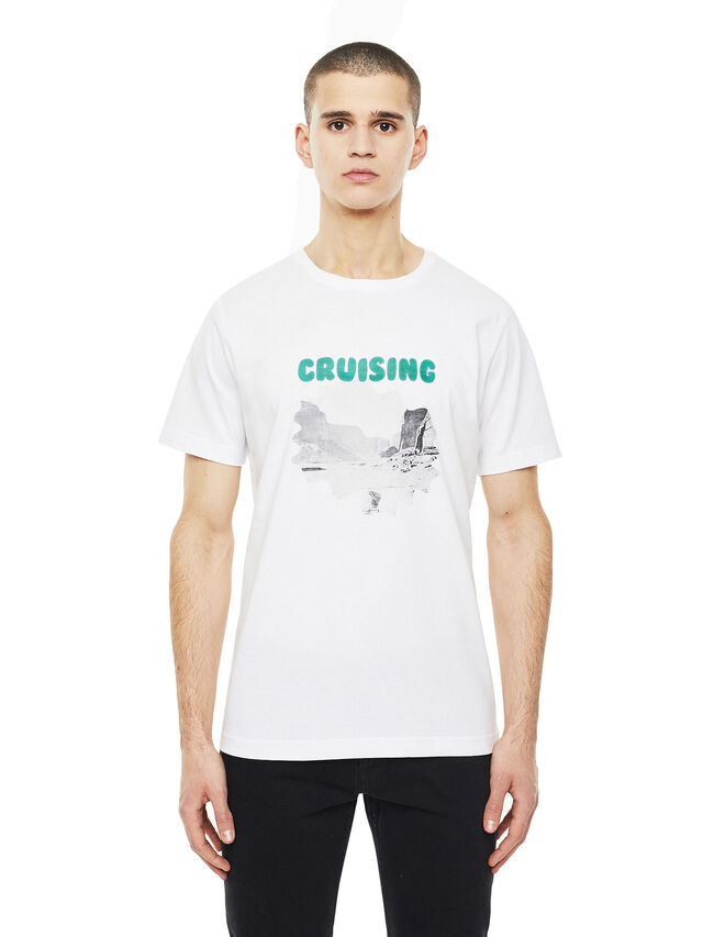 Diesel - TY-CRUISING, White - T-Shirts - Image 1
