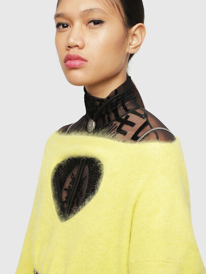 Diesel - M-GIORGIA, Yellow Fluo - Knitwear - Image 3