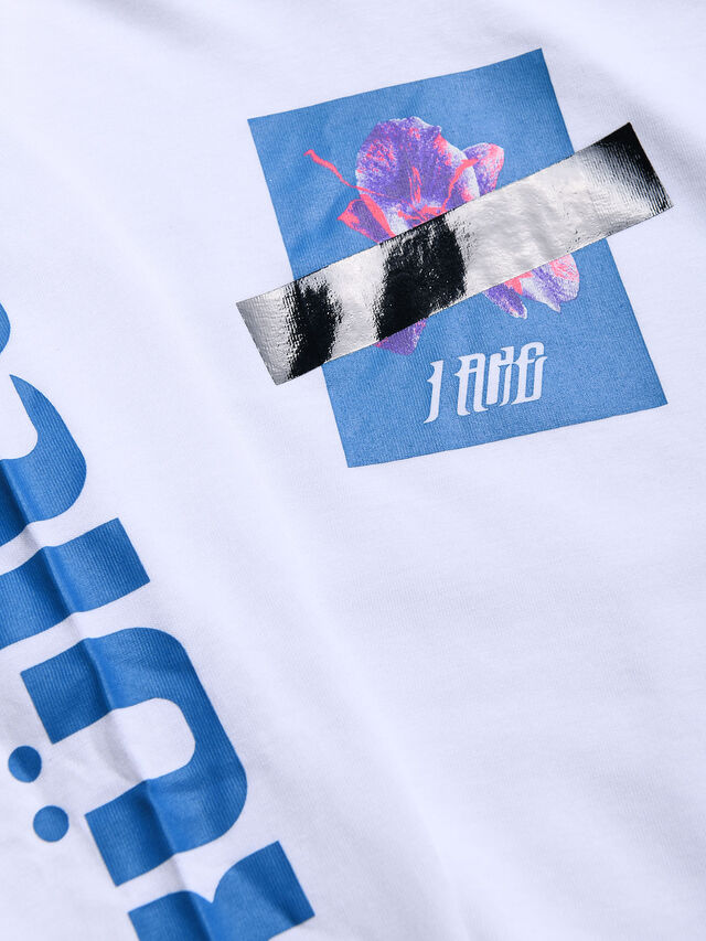 Diesel - TFONTYX, White - T-shirts and Tops - Image 3