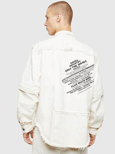 Diesel - D-KURTIS, White - Denim Shirts - Image 2