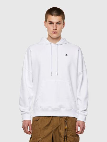 Diesel - S-KRIB-HOOD-ROMOHI, White - Sweaters - Image 1