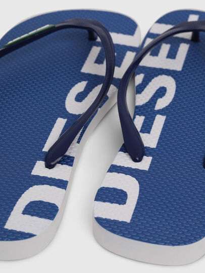 Diesel - SA-BRIIAN, Blue/White - Slippers - Image 4