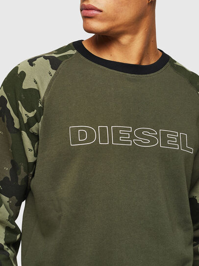 Diesel - UMLT-MAX, Green Camouflage - Sweaters - Image 3