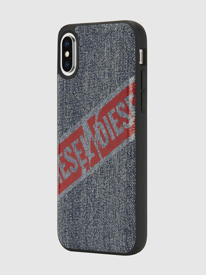 Diesel - VINTAGE DENIM IPHONE X CASE, Blue Jeans - Cases - Image 5