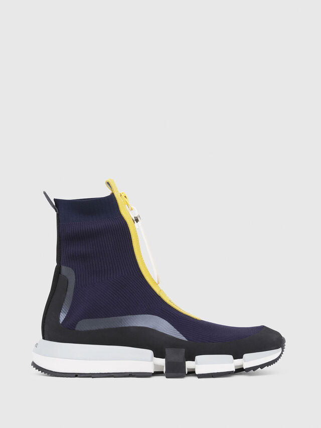 Diesel - H-PADOLA MID ZIP, Blue/Yellow - Sneakers - Image 1