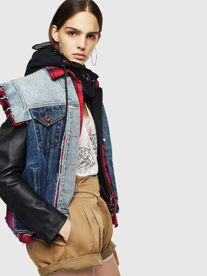 Diesel - L-MARALI, Blue/Black - Leather jackets - Image 3