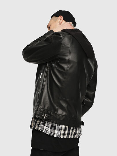 Diesel - L-SHIRO-WH, Black - Leather jackets - Image 2