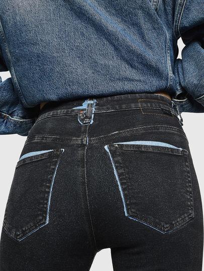 Diesel - Slandy High 0094B, Dark Blue - Jeans - Image 5