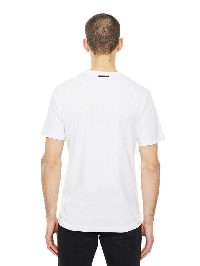 Diesel - TY-BIGSHERIFF, White - T-Shirts - Image 3