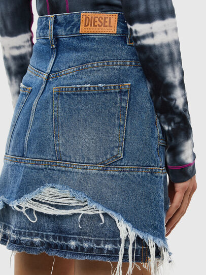 Diesel - DE-JAUME, Medium blue - Skirts - Image 4