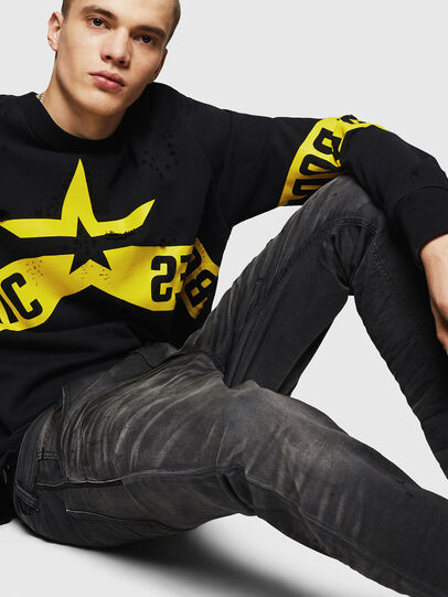 Diesel - Krooley JoggJeans 069GN, Black/Dark grey - Jeans - Image 4