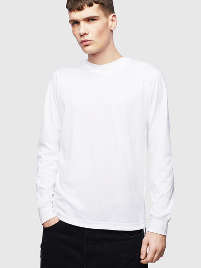 Diesel - T-HUSTY-LS, White - T-Shirts - Image 1