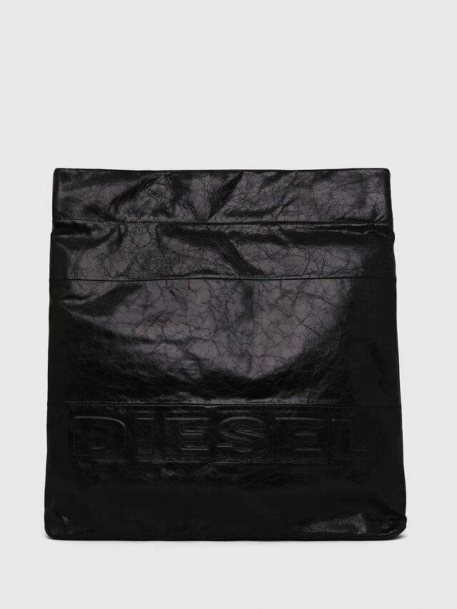 Diesel - F-LITT SHOPPER EW, Black - Clutches - Image 1