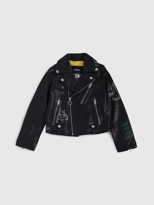 Diesel - JLWILL, Black Leather - Jackets - Image 1