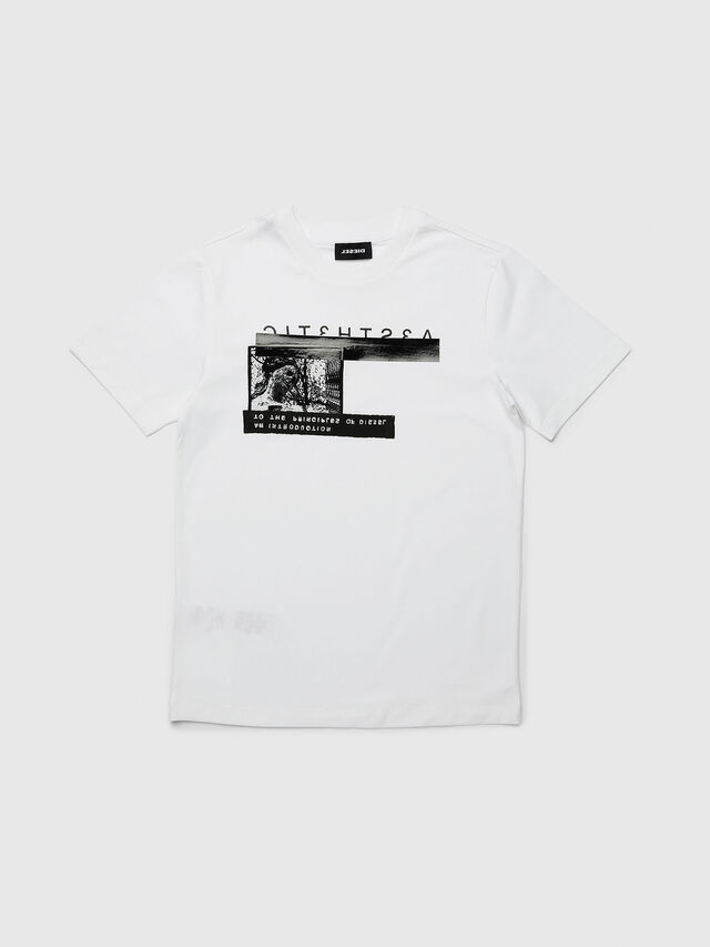 Diesel - TJUSTYP, White - T-shirts and Tops - Image 1
