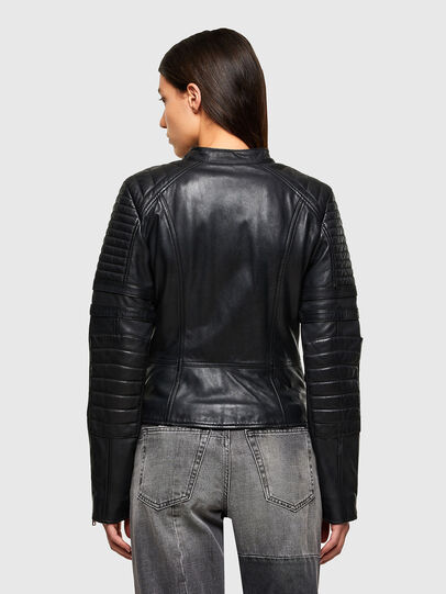 Diesel - L-IGE-NEW-A, Black - Leather jackets - Image 2