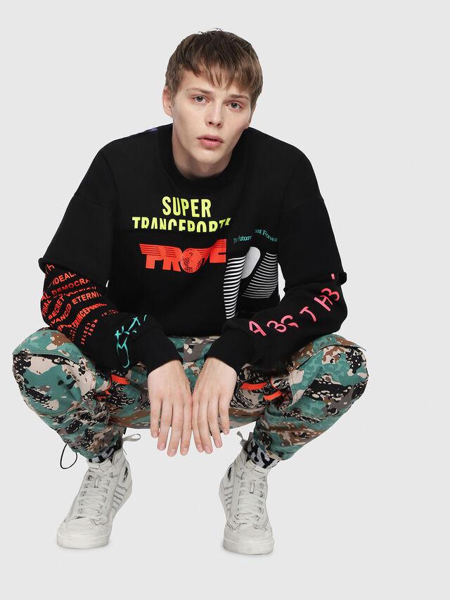 Diesel - S-TAKEO, Multicolor/Black - Sweaters - Image 4
