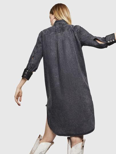 Diesel - DE-BLANK, Black/Dark grey - Dresses - Image 6