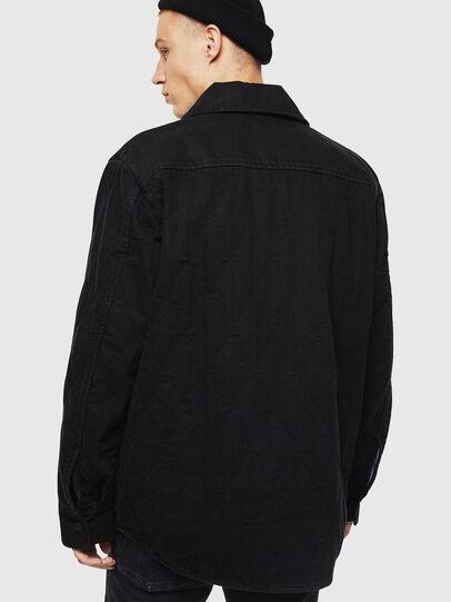 Diesel - D-WELLES, Black/Red - Denim Shirts - Image 2