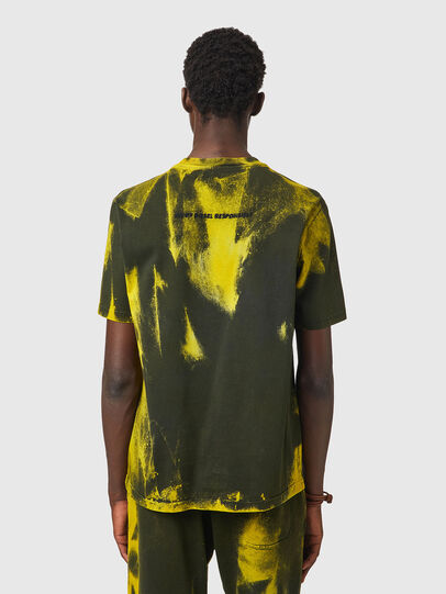 Diesel - T-JUST-B84, Green/Yellow - T-Shirts - Image 3