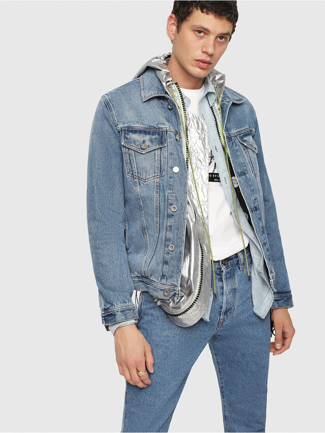 Diesel - NHILL, Blue Jeans - Denim Jackets - Image 1
