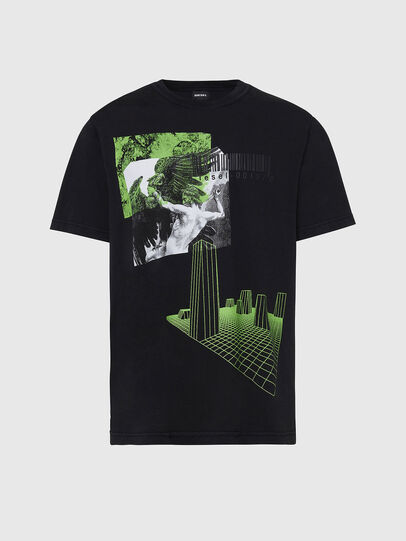 Diesel - T-JUBIND-SLITS, Black - T-Shirts - Image 1