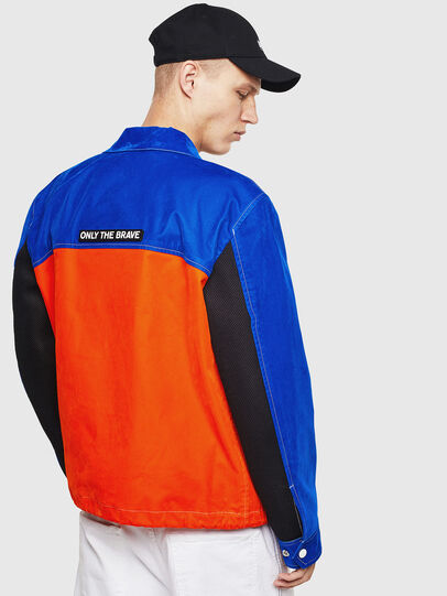 Diesel - J-BELL, Blue/Red - Jackets - Image 2