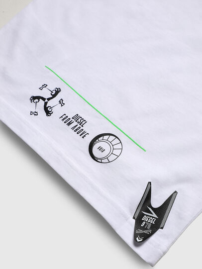 Diesel - TJUSTLS-NEW, White - T-shirts and Tops - Image 5