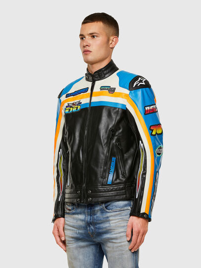 Diesel - ASTARS-LPATCH-1A-B,  - Leather jackets - Image 8