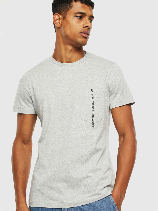 T-RUBIN-POCKET-J1, Grey - T-Shirts