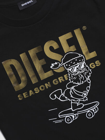 Diesel - TCLAUS-TSE, Black - T-shirts and Tops - Image 3